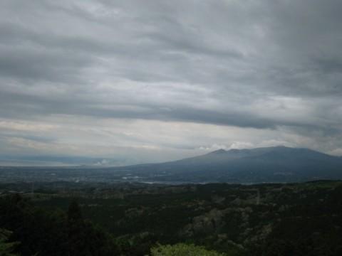 山中城跡からの眺望。