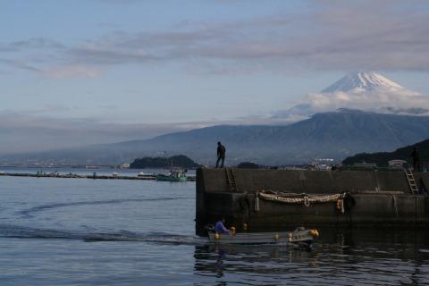 沼津の釣り人は朝が早いのだ