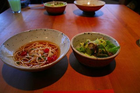 三の蔵スープとサラダ