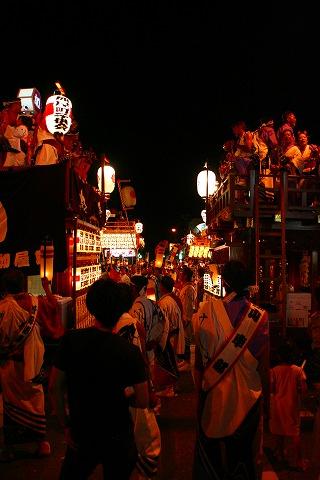 三島大社祭りシャギリ競り合い