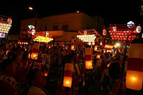 三島大社祭りシャギリ競り合いの山車