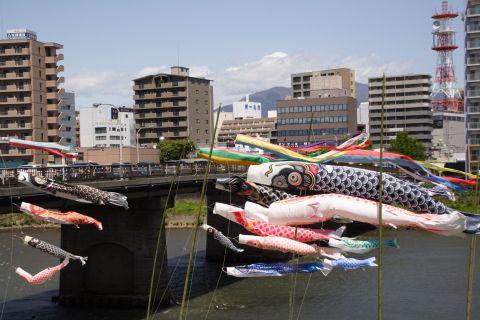 狩野川の鯉のぼり